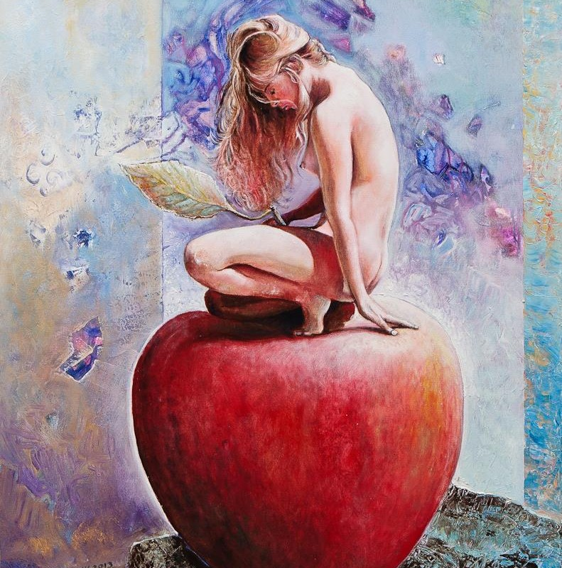 Girl on Apple