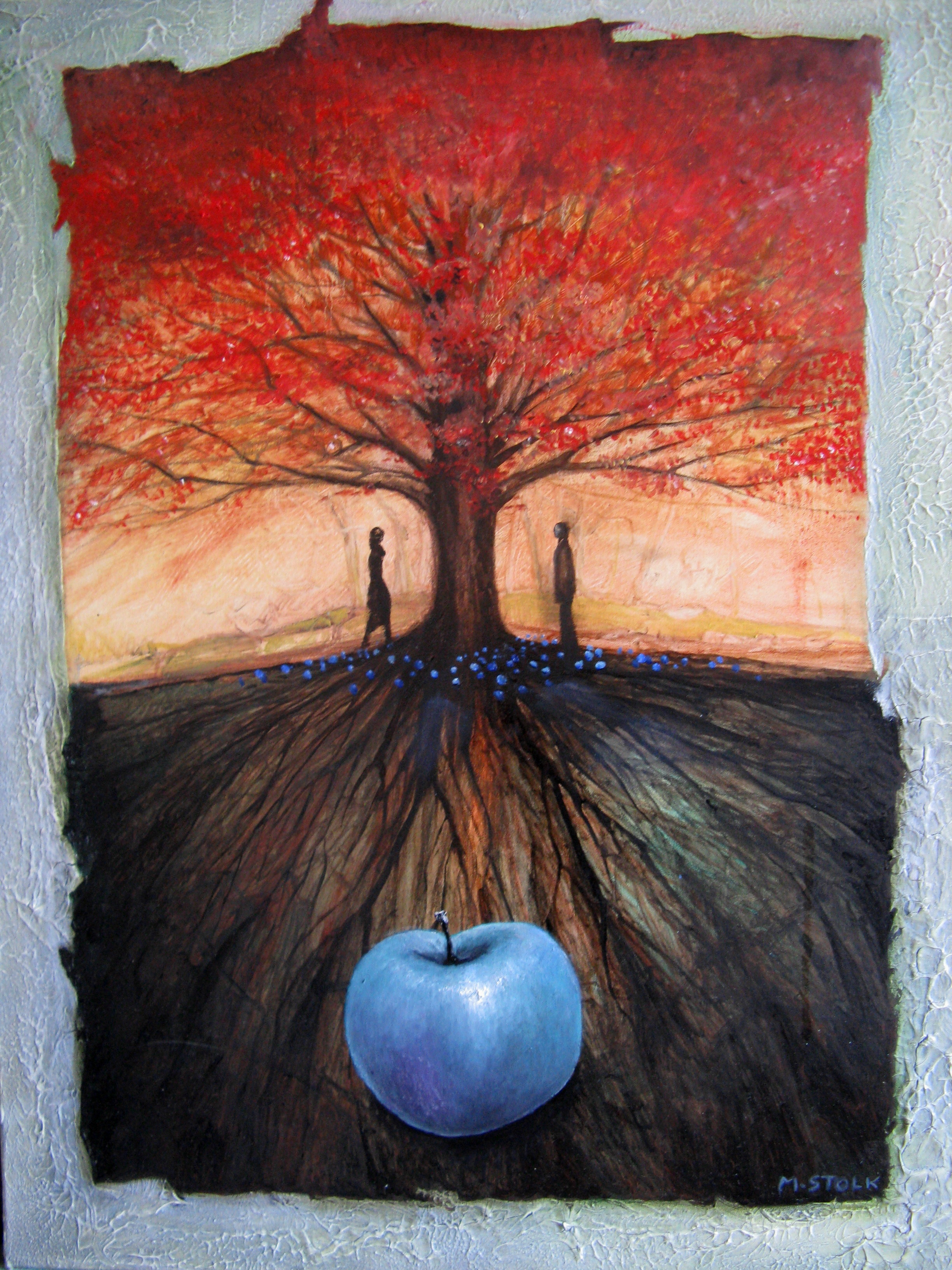 Under the Blue Apple Tree Mixed techniques on canvas 2012