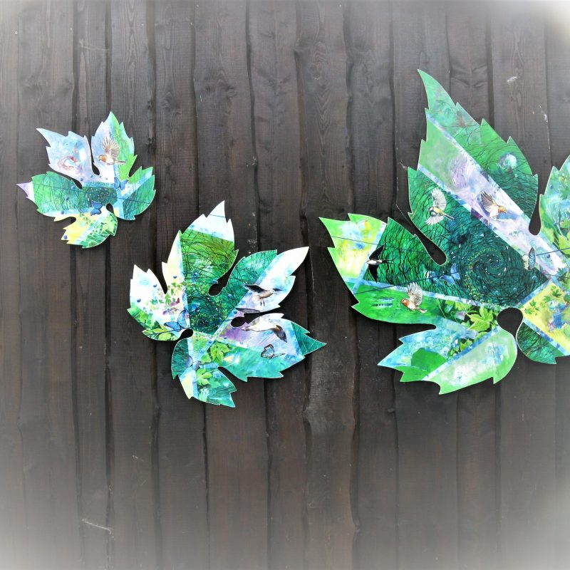 Decoration on our house with vine leaves