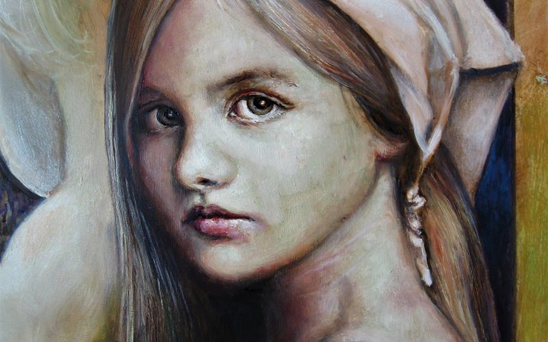 "Young girl (part of the painting ""Where do we go ? "")"