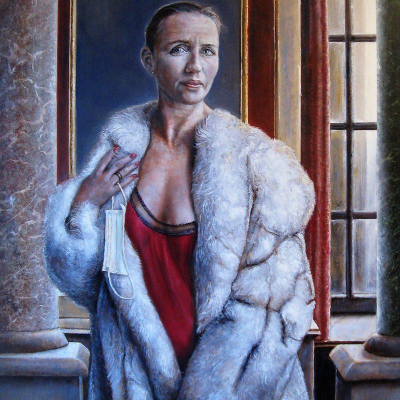 "Portrait Mette Frederiksen ""Honi Soit Qui Mal Y Pense"""